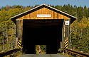 The Mount Orne covered Bridge, New Hampshire number 30, spans 266 feet across the Connecticut River between Lunenburg, Vermont  and Lancaster NH.