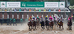 LOUISVILLE, KENTUCKY - MAY 04: The field breaks for the Kentucky Derby at Churchill Downs in Louisville, Kentucky on May 04, 2019. Evers/Eclipse Sportswire/CSM