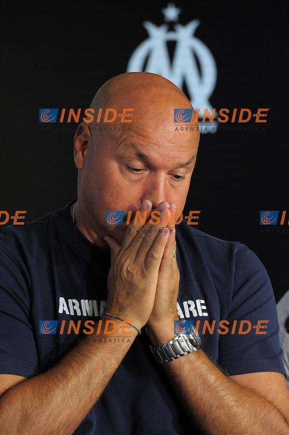 06-09-2013 L'allenatore del Marsiglia Jose Anigo, il cui figlio e' stato assassinato con vari colpi di pistola in strada.<br /> Photo Franck Pennant / Panoramic / Insidefoto<br /> ITALY ONLY