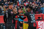 03.11.2018, BayArena, Leverkusen, GER, 1. FBL,  Bayer 04 Leverkusen vs. TSV 1899 Hoffenheim,<br />  <br /> DFL regulations prohibit any use of photographs as image sequences and/or quasi-video<br /> <br /> im Bild / picture shows: <br /> Torjubel / Jubel / Jubellauf,    Kai Havertz (Leverkusen #29),  Wendell (Leverkusen #18), Mitchell Weiser (Leverkusen #23), <br /> Foto &copy; nordphoto / Meuter