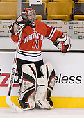 Adam Geragosian (NU - 41) - The Northeastern University Huskies defeated the Harvard University Crimson 3-1 in the Beanpot consolation game on Monday, February 12, 2007, at TD Banknorth Garden in Boston, Massachusetts.