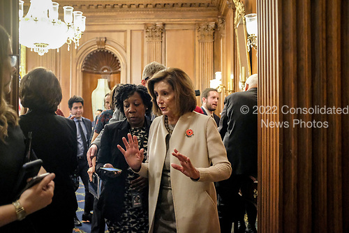 Speaker of the United States House of Representatives Nancy Pelosi (Democrat of California), leaves a news conference on Capitol Hill in Washington, DC on Tuesday, December 17, 2019. Credit: Alex Wroblewski / CNP