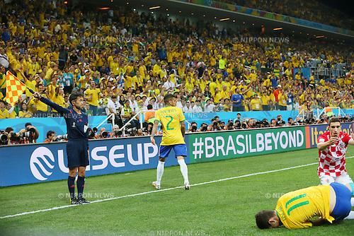 Toshiyuki Nagi, <br /> JUNE 12, 2014 - Football /Soccer : <br /> 2014 FIFA World Cup Brazil <br /> Group Match -Group A- <br /> between Brazil 3-1 Croatia <br /> at Arena de Sao Paulo, Sao Paulo, Brazil. <br /> (Photo by YUTAKA/AFLO SPORT) [1040]