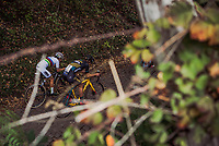 World Champion Sanne Cant (BEL/IKO-Beobank) and Ellen Van Loy (BEL/Telenet Fidea Lions) up the Koppenberg.<br /> <br /> women's race.<br /> Koppenbergcross Belgium 2018