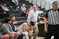 The Occidental College men's basketball team plays against Claremont-Mudd-Scripps on February 12, 2020 in Rush Gym. Oxy won 58-49.<br /> (Photo by Marc Campos, Occidental College Photographer)