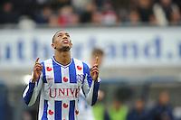 VOETBAL: HEERENVEEN: Abe Lenstra Stadion, 21-10-2012, SC Heerenveen - FC Groningen, Einduitslag 3-0, Rajiv van La Parra (#7 | SCH) scoort de 1-0 en later ook de 3-0, ©foto Martin de Jong