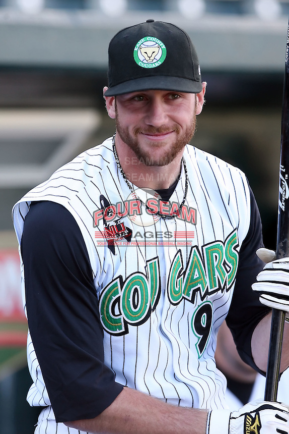 June 16th 2008:  Corey Brown of the Kane County Cougars, Class-A affiliate of the Oakland Athletics, during the Midwest League All-Star Home Run Derby at Dow Diamond in Midland, MI.  Photo by:  Mike Janes/Four Seam Images