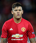 Marcos Rojo of Manchester United during the UEFA Europa League match at Old Trafford Stadium, Manchester. Picture date: September 29th, 2016. Pic Matt McNulty Sportimage