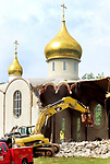 WATERBURY  CT. - 22 July 2019-072219SV05-<br />The Holy Virgin Mary Orthodox Church is demolished on North Main Street in Waterbury Monday.<br />Steven Valenti Republican-American
