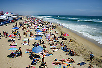 Sunbathing at Huntington Beach Shoreline