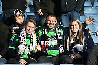 Swansea fans   during the Emirates FA Cup 3rd Round between Oxford United v Swansea     played at Kassam Stadium  on 10th January 2016 in Oxford