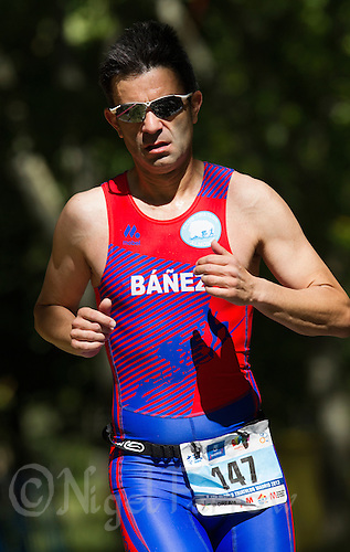 01 JUN 2013 - MADRID, ESP - Manuel Banez Medina  during the run at her WTP Agemaster race at Casa de Campo in Madrid, Spain<br /> (PHOTO (C) 2013 NIGEL FARROW)