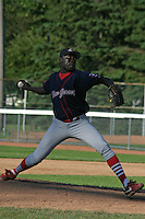 July 13, 2003:  Pitcher Roberto Batista of the New Jersey Cardinals during a game at Russell Diethrick Park in Jamestown, New York.  Photo by:  Mike Janes/Four Seam Images