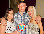 Mark Fitzpatrick celebrates his 21st in the Star and Crescent with Rebecca Hanratty and Tina Hanratty..Picture: Shane Maguire / www.newsfile.ie.