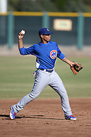 Chicago Cubs shortstop Gleyber Torres (4) during an Instructional League game against the San Francisco Giants on October 18, 2013 at Giants Baseball Complex in Phoenix, Arizona.  (Mike Janes/Four Seam Images)