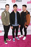 CARSON, CALIFORNIA - JUNE 01: The Jonas Brothers at KIIS FM 2019 iHeartRadio Wango Tango at Dignity Health Sports Park on June 01, 2019 in Carson, California.  <br /> CAP/MPI/SAD<br /> ©SAD/MPI/Capital Pictures