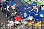 SPEEDSTERS: Glenbeigh brothers Dominic and Ray Lynch with their well prepared Darrian rally car at the start of the Kerry motor club mini stages rally last Sunday based in Banna beach hotel.   Copyright Kerry's Eye 2008