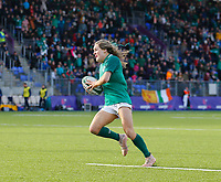 2nd February 2020; Energia Park, Dublin, Leinster, Ireland; International Womens Rugby, Six Nations, Ireland versus Scotland; Beibhinn Parsons of Ireland steals the ball and makes a solo run on her way to scoring a try 18 - 7