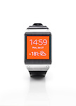 Samsung Galaxy Gear smartwatch. Isolated watch on white background with clipping path.