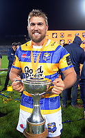 Hawkes Bay captain Aidan Ross with the Championship Cup after the Mitre 10 Cup Championship rugby final between Bay Of Plenty Steamers and Hawkes Bay Magpies at Rotorua International Stadium, New Zealand on Friday, 25 October 2019. Photo: Dave Lintott / lintottphoto.co.nz