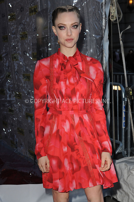 WWW.ACEPIXS.COM<br /> March 23, 2015 New York City<br /> <br /> Amanda Seyfried arrives at 'While We're Young' New York Premiere at Paris Theater on March 23, 2015 in New York City. <br /> <br /> Please byline: Kristin Callahan/AcePictures<br /> <br /> ACEPIXS.COM<br /> <br /> Tel: (646) 769 0430<br /> e-mail: info@acepixs.com<br /> web: http://www.acepixs.com