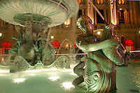 Fountains and pools outside Paris Las Vegas Hotel, Las Vegas, Clark County, N