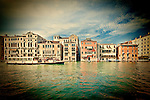 View of Grand Canal and San Marco sestiere from Dorsoduro, Venice, Italy.