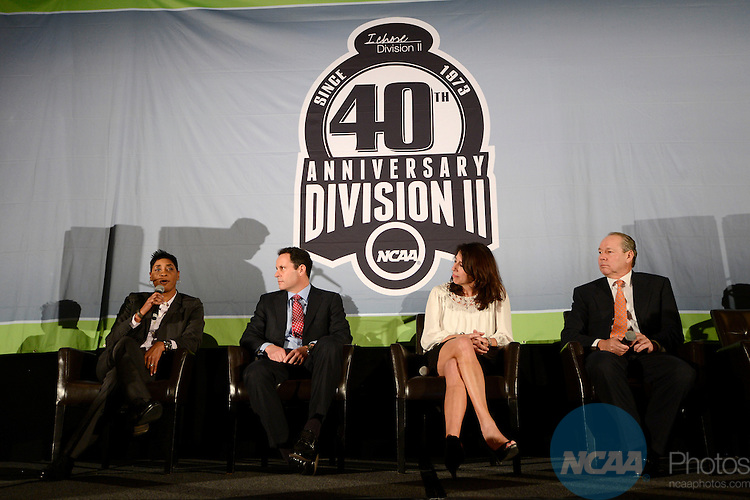 16 JAN 2014:  The Division II 40th Anniversary Celebration takes place during the 2014 NCAA Convention in San Diego, CA.  Jamie Schwaberow/NCAA Photos  (Pictured:  Violet Palmer)