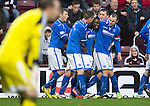 Hearts v St Johnstone....02.11.13     SPFL<br /> Nigel Hasselbaink celebrates his goal<br /> Picture by Graeme Hart.<br /> Copyright Perthshire Picture Agency<br /> Tel: 01738 623350  Mobile: 07990 594431