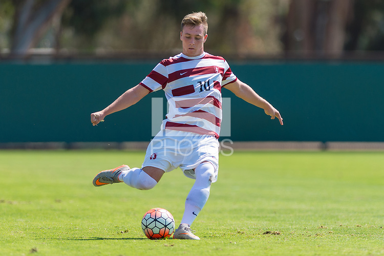 Stanford, CA - September 20, 2015: Corey Baird during the Stanford vs Davidson men's soccer match in Stanford, California.  The Cardinal defeated the Wildcats 1-0 in overtime.