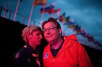 Camp chiefs Marie Reinecke and Göran Hägerdahl at the Opening ceremony. Photo: Magnus Fröderberg/Scouterna