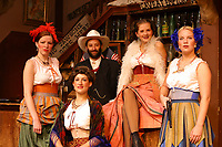 Days of 98 theater show portrays the story of legendary Soapy Smith and the early gold rush days in Skagway, Alaska,