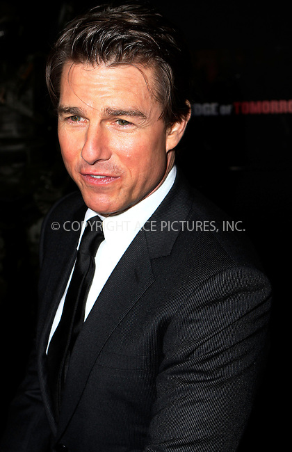 ACEPIXS.COM<br /> <br /> May 28 2014, New York City<br /> <br /> Actor Tom Cruise attends the 'Edge Of Tomorrow' red carpet repeat fan premiere tour at AMC Loews Lincoln Square on May 28, 2014 in New York City.<br /> <br /> By Line: Nancy Rivera/ACE Pictures<br /> <br /> ACE Pictures, Inc.<br /> www.acepixs.com<br /> Email: info@acepixs.com<br /> Tel: 646 769 0430