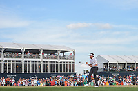 Ian Poulter (GBR) celebrates on 18 after winning a playoff hole vs Beau Hossler (USA) during round 4 of the Houston Open, Golf Club of Houston, Houston, Texas. 4/1/2018.<br /> Picture: Golffile | Ken Murray<br /> <br /> <br /> All photo usage must carry mandatory copyright credit (&copy; Golffile | Ken Murray)