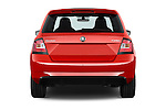 Straight rear view of 2016 Skoda Fabia Monte-Carlo 5 Door Hatchback Rear View  stock images