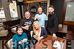 Enjoying the coffee morning in aid of the Kerry Down Syndrome shop at the coffee eating public house in the Abbey Inn on Tuesday morning were front  l-r Tianna O'Ceallaigh, Paula Walsh, back l-r Kerry Leane, Danny Leane and Brian Nelligan