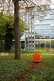 FRANCE, Paris, Gardens of Fondation Cartier pour l'Art Contemporain