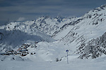 Ski trail 8 descending to St Christoph, at St Anton Ski Area, Austria,