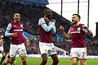 Albert Adomah of Aston Villa' celebrates scoring Aston Villa's goal<br /> <br /> <br /> Photographer Leila Coker/CameraSport<br /> <br /> The EFL Sky Bet Championship - Aston Villa v Wolverhampton Wanderers - Saturday 10th March 2018 - Villa Park - Birmingham<br /> <br /> World Copyright &copy; 2018 CameraSport. All rights reserved. 43 Linden Ave. Countesthorpe. Leicester. England. LE8 5PG - Tel: +44 (0) 116 277 4147 - admin@camerasport.com - www.camerasport.com