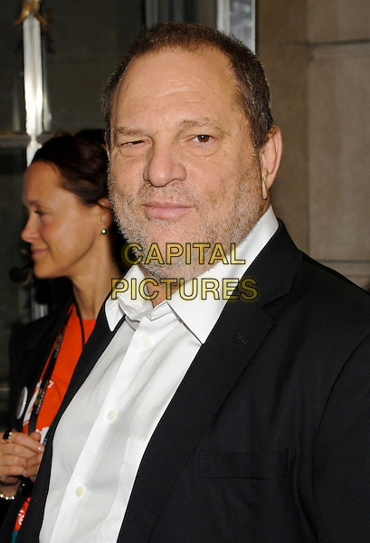 Harvey Weinstein<br /> &quot;Can A Song Save Your Life?&quot; Premiere - 2013 Toronto International Film Festival held at Princess of Wales Theatre, Toronto, Ontario, Canada.<br /> September 7th, 2013<br /> headshot portrait black suit jacket white shirt stubble facial hair <br /> CAP/ADM/BPC<br /> &copy;Brent Perniac/AdMedia/Capital Pictures
