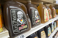 "Bottles of Arizona's Arnold Palmer Half & Half, iced tea and lemonade, in a supermarket in New York on Monday, September 26, 2016. The popular ""King of Golf"" passed away Sunday of complications from heart problems at the age of 87. Palmer was in the vanguard of sports marketing and was one of the highest earners in the golf world. (© Richard B. Levine)"