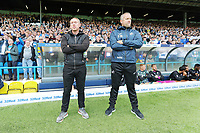LEEDS, ENGLAND - AUGUST 31: (L-R) Swansea City manager Steve Cooper and Goalkeeping Coach Martyn Margetson stand on the touch line during the Sky Bet Championship match between Leeds United and Swansea City at Elland Road on August 31, 2019 in Leeds, England. (Photo by Athena Pictures/Getty Images)
