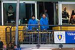 Stockholm 2013-11-26 Bandy Elitserien Hammarby IF - Edsbyns IF :  <br /> Per Fosshaug och Daniel Kristiansson kommenterar matchen fr&aring;n Zinkensdamms IP:s huvudl&auml;ktare<br /> (Foto: Kenta J&ouml;nsson) Nyckelord: