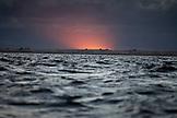 MEXICO, Baja, Magdalena Bay, Pacific Ocean, the ominous sunset seen from Magdalena Bay