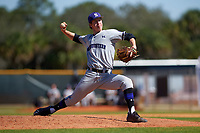 Northwestern Wildcats relief pitcher Justin Yoss (29) delivers a pitch during a game against the Illinois State Redbirds on March 6, 2016 at North Charlotte Regional Park in Port Charlotte, Florida.  Illinois State defeated Northwestern 10-4.  (Mike Janes/Four Seam Images)
