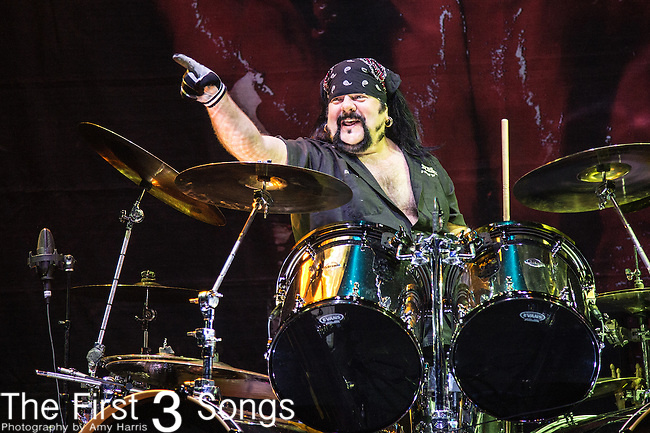 Vinnie Paul of Hell Yeah performs during the 2016 ShipRocked Cruise. ShipRocked set sail January 18-22, 2016, from Miami to Costa Maya, Mexico on the Norwegian Pearl.
