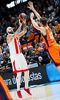 VALENCIA, SPAIN - 15/12/2017. Eurocup Jornada12, Valencia Basket vs Estrella Roja. Pabellón Fuente de San Luis, Valencia, Spain.
