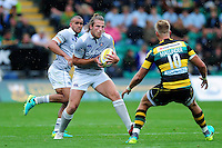 Max Clark of Bath Rugby in possession. Aviva Premiership match, between Northampton Saints and Bath Rugby on September 3, 2016 at Franklin's Gardens in Northampton, England. Photo by: Patrick Khachfe / Onside Images