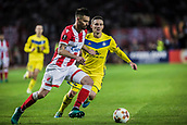 14th September 2017, Red Star Stadium, Belgrade, Serbia; UEFA Europa League Group stage, Red Star Belgrade versus BATE; Midfielder Damien Le Tallec of Red Star Belgrade igets past his defender
