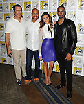 Rob Riggle, Keegan Michael Key, Nina Dobrev and Damon Wayans Jr. arriving at the Let's Be Cops Panel at Comic-Con 2014  at the Hilton Bayfront Hotel in San Diego, Ca. July 25, 2014.